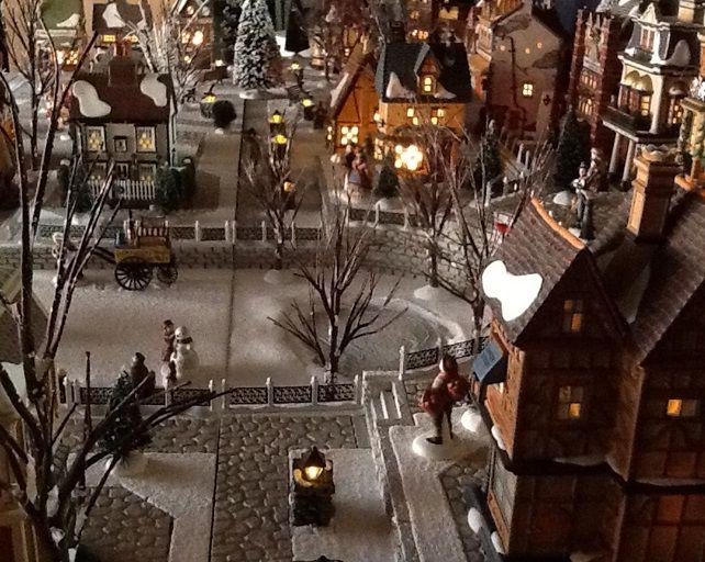 Christmas Village Platforms.Village Platforms And Backdrops For Dept 56 Lemax And Other