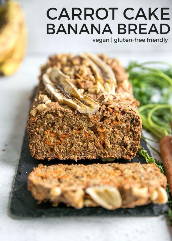 Vegan Carrot Cake Banana Bread Recipe Vegan Carrot Cakes