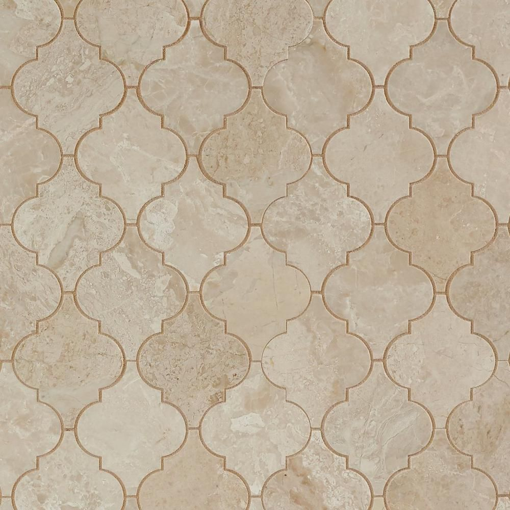 Floor And Decor Arabesque Tile Impero Reale Arabesque Marble Mosaic  12Inx 12In 100255058