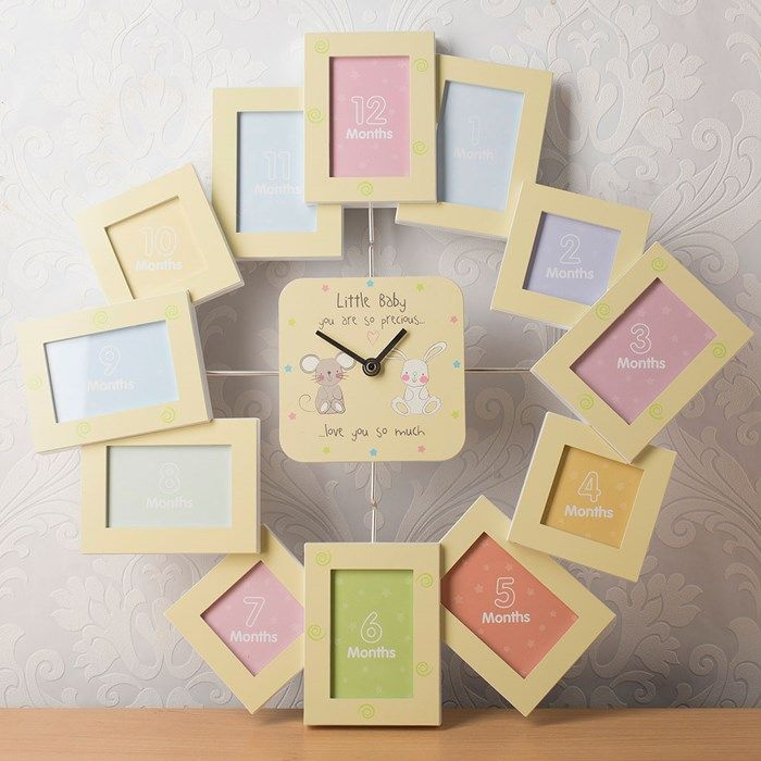 Photo Frame Clock - My First Year | Clocks, Babies and Baby things