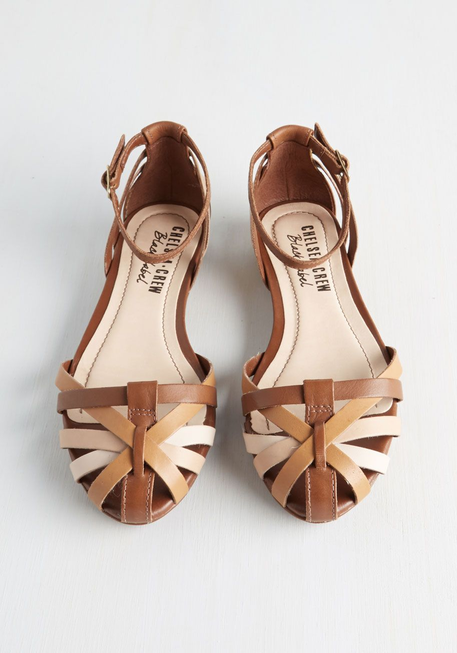 f05e178ff77a Strut Do You Think  Flat in Brown. Host a playful fashion show with your  pals while modeling this eye-catching pair by Chelsea Crew.  brown  modcloth
