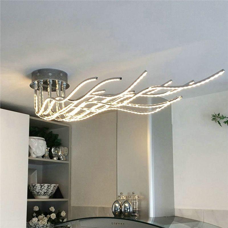 Lampe de plafond LED flot pour chambre salon salle à manger cuisine café
