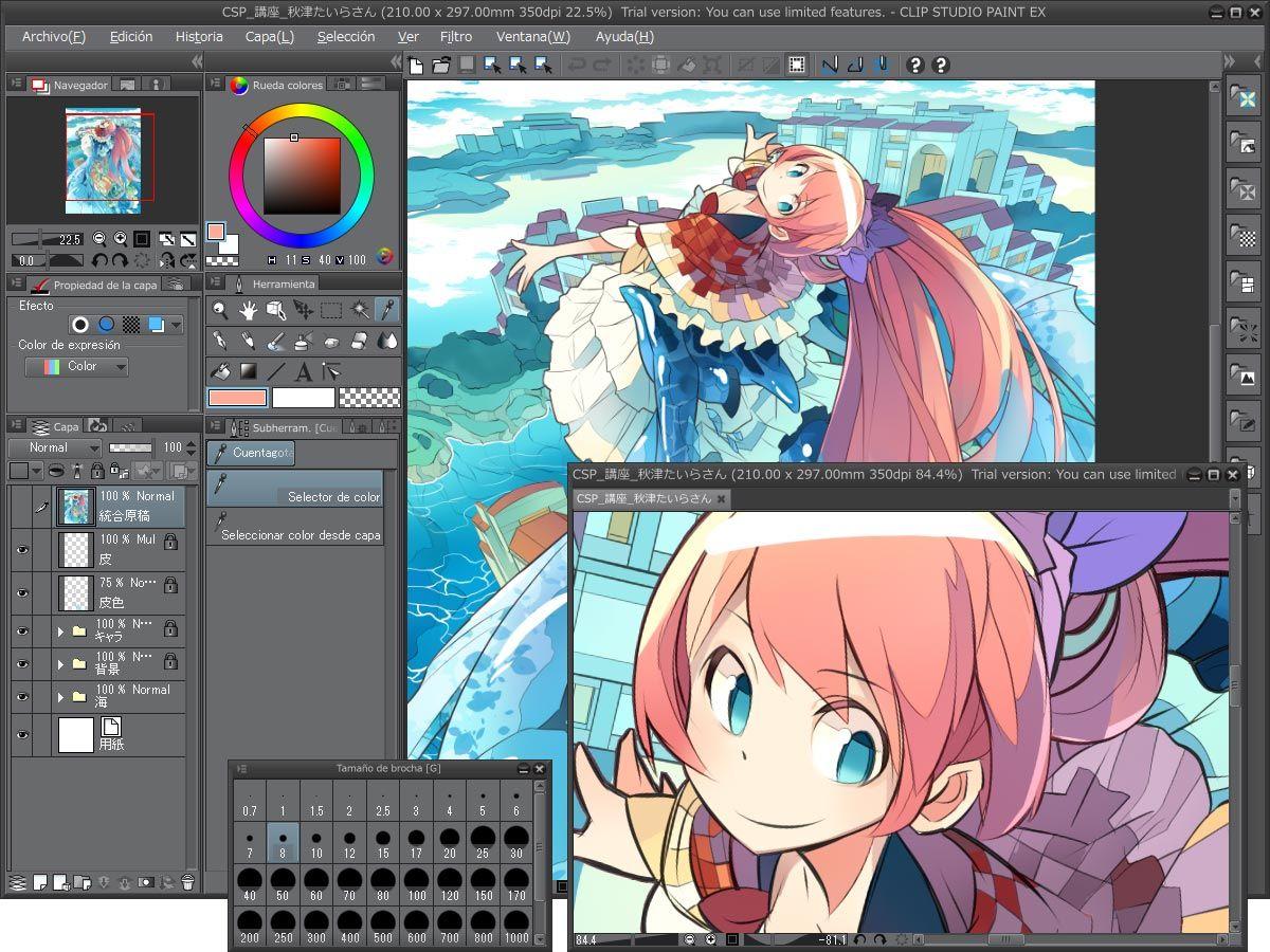 Clip Studio Paint Cuenta Con Una Gran Variedad De Lapices Pinceles Y Otras Funciones Artisticas Al Expresarse Artistica Diseno De Personajes Studio Artistas