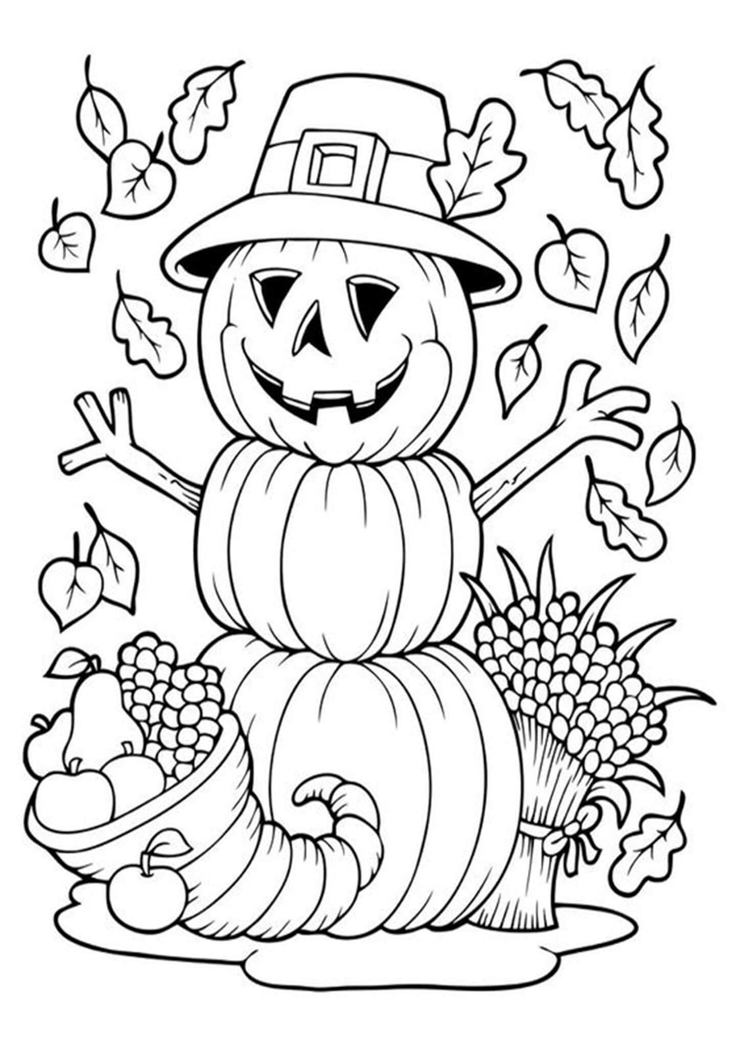 Free Easy To Print Halloween Coloring Pages Halloween Coloring Book Free Thanksgiving Coloring Pages Thanksgiving Coloring Pages