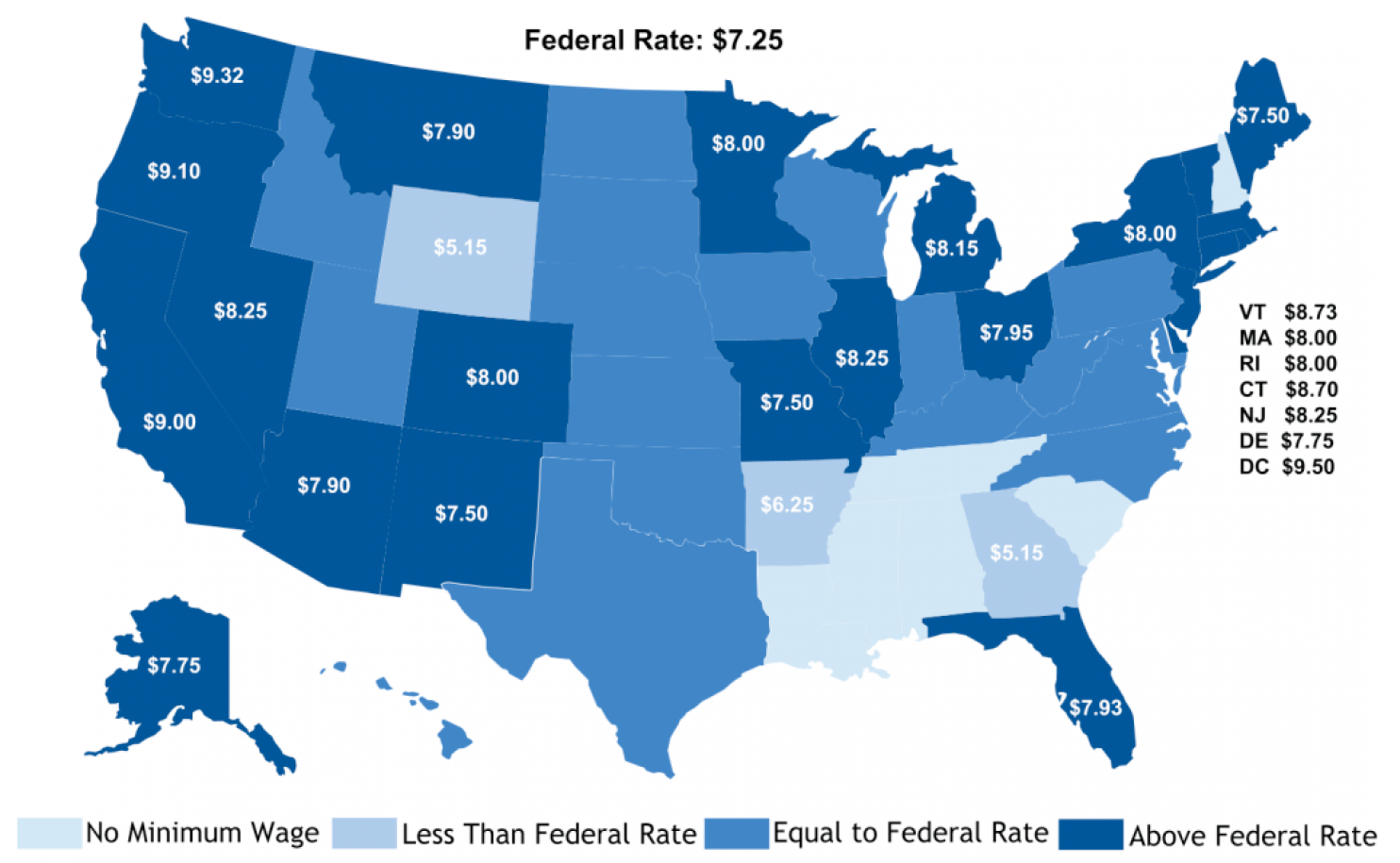 Where The Minimum Wage Stands In Each State And How It Could