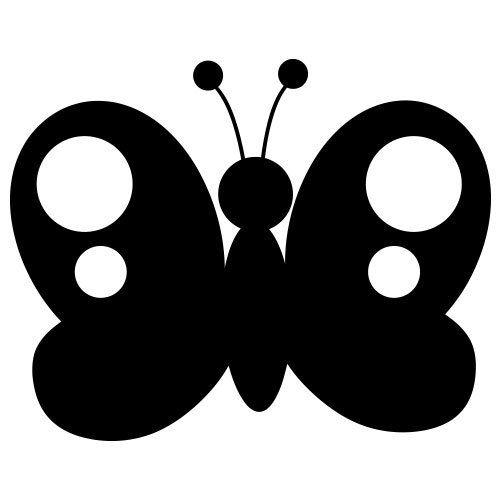 Pochoir papillon 6 gratuit imprimer imprimer pochoir pochoir papillon et papillon - Silhouette papillon imprimer ...