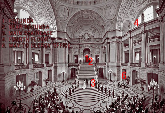 Panoramic San Francisco City Hall Map Wedding Photography By Iqphoto