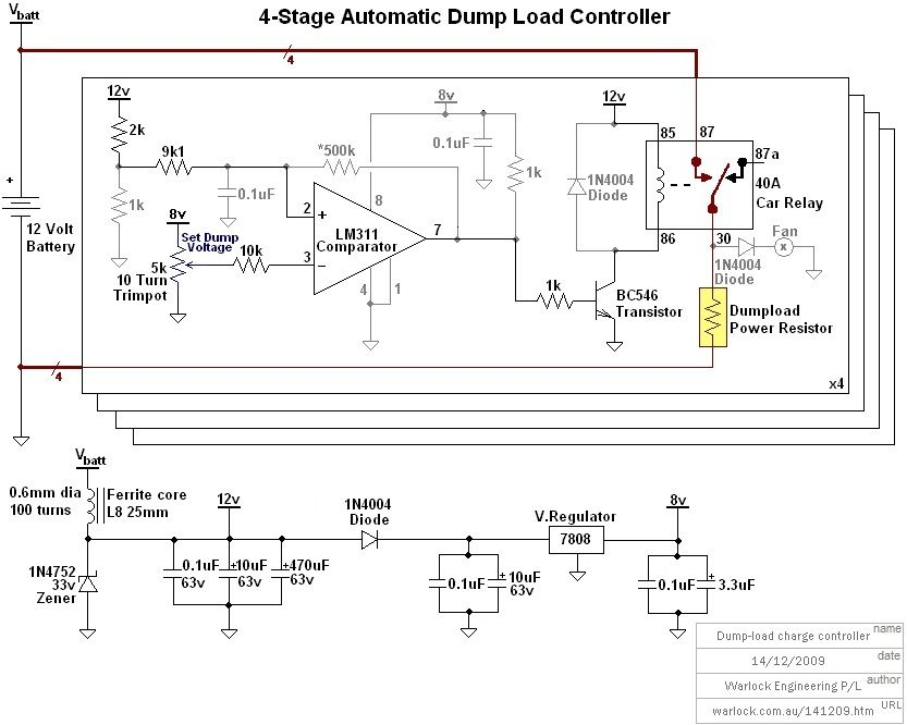 Homemade 12 volt wind turbine stage automatic dumpload controller homemade 12 volt wind turbine stage automatic dumpload controller circuit diagram publicscrutiny Image collections