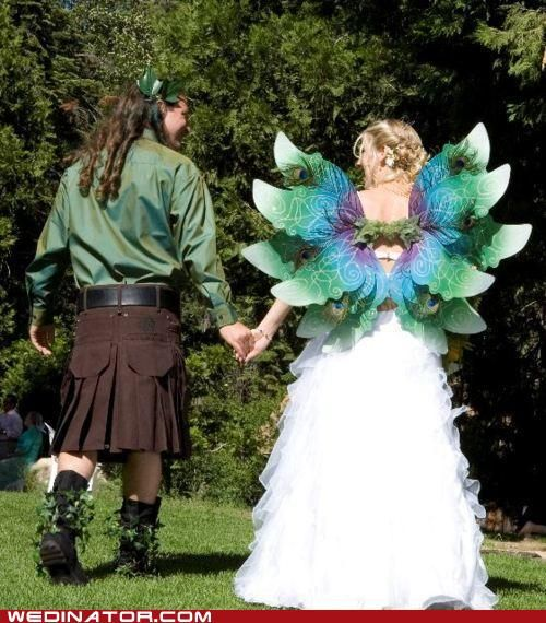 White Wedding Kilt: Love The Irish Kilt! (and Her Wings)