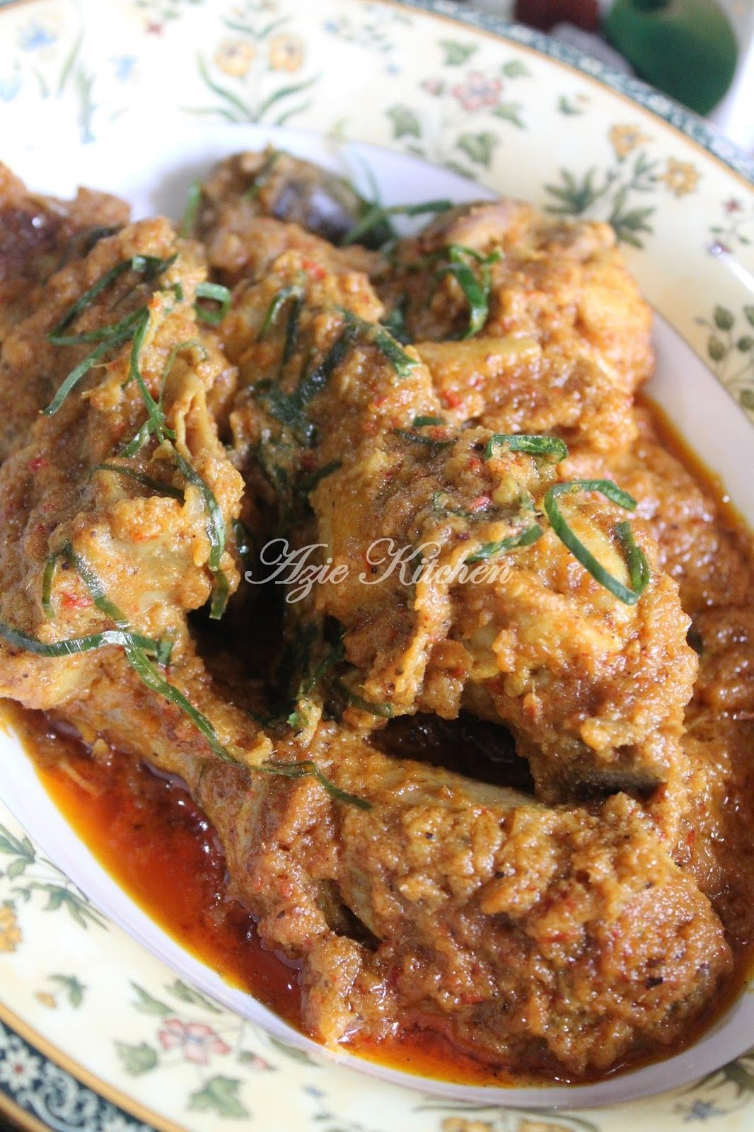 Rendang Ayam Buah Keras Food Recipes Chicken