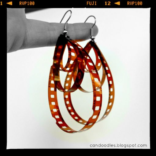 Repurpose your old negatives into earrings.