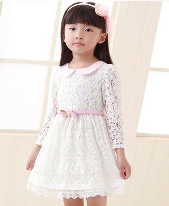 Aliexpress.com : Buy Girls summer cotton dress, female child lace short sleeve princess one piece dress,free shipping from Reliable girl pri...