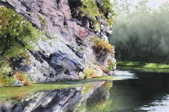 """Still Waters"" (watercolor, 15 x 22)"