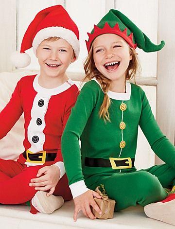 St. Nick & Elf Long John Pajamas In Organic Cotton | Boys ...