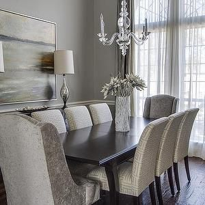 Room Gray Velvet Dining Chair