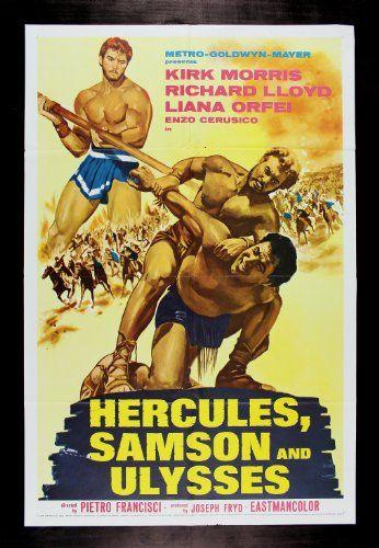 Samson /& Ulysses 1963 Kirk Morris movie poster print Hercules