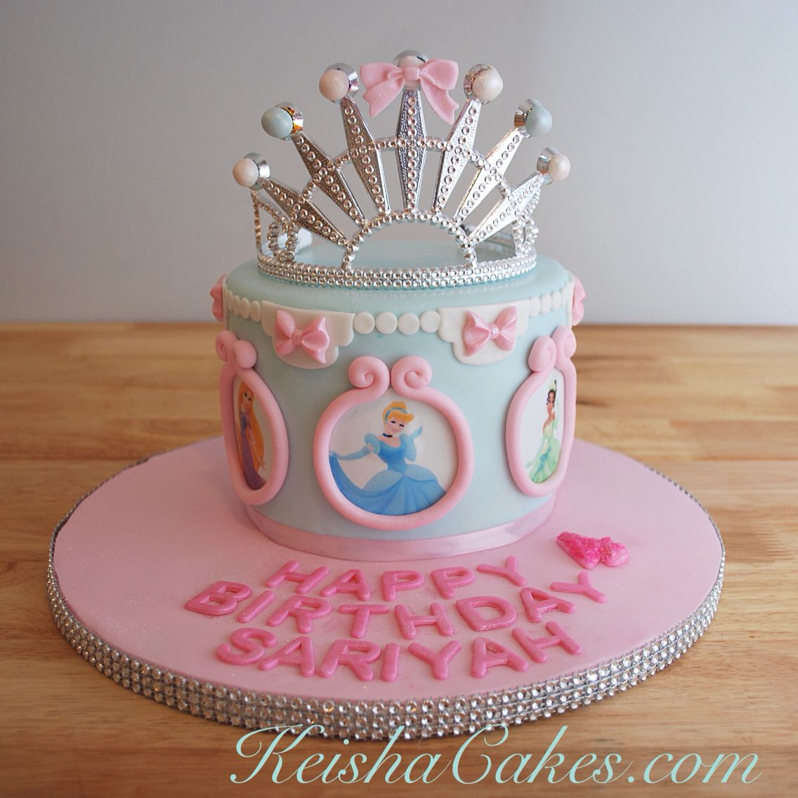 Disney Princesses cake for a little girls 4th birthday The edible