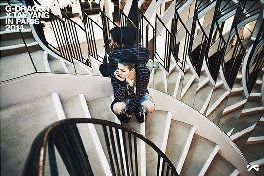 G-Dragon and Taeyang in Paris 2014