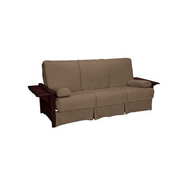 Valet Perfect Sit And Sleep Futon Mattress Upholstery Suede Mocha Brown Size