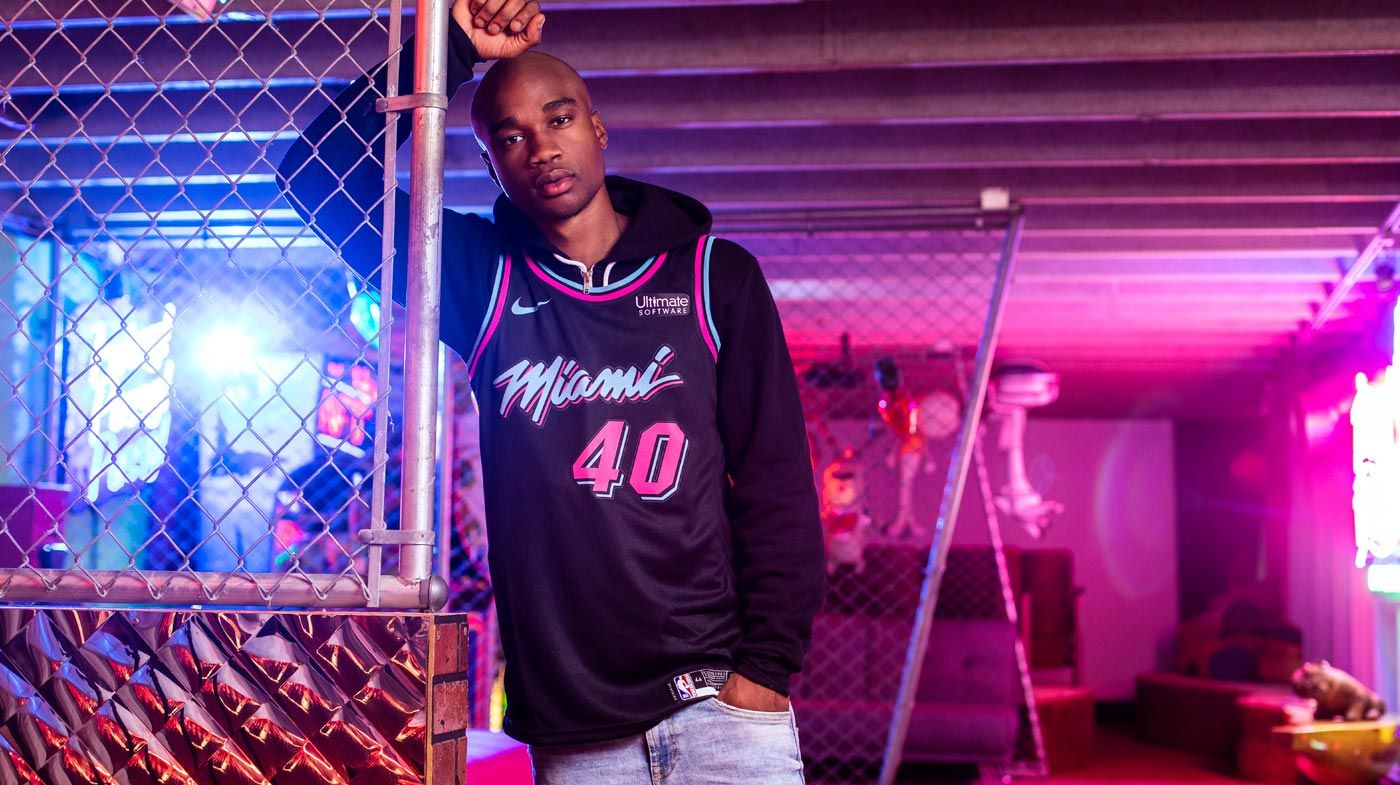 promo code 0d1be 82b2d Udonis Haslem Nike Miami HEAT Vice Nights City Edition ...