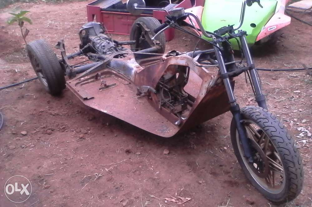Vw trike complete frame with gearbox and all shifters modified ...