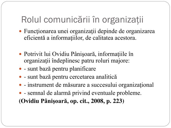 calitatea comunicarii