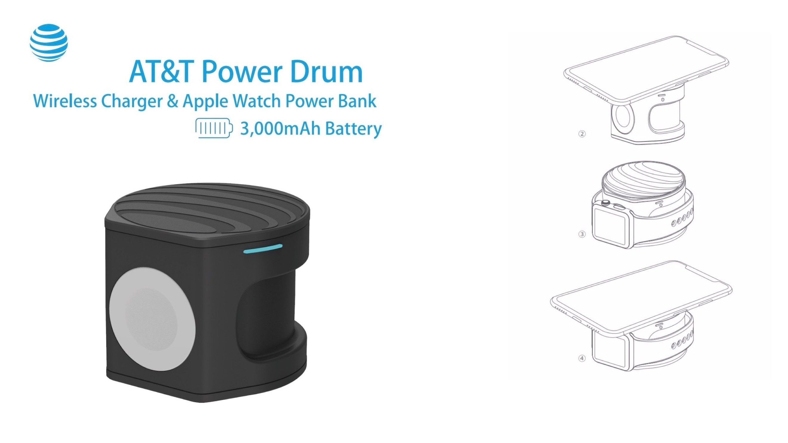 AT&T planning 2in1 'Power Drum' Apple Watch & iPhone