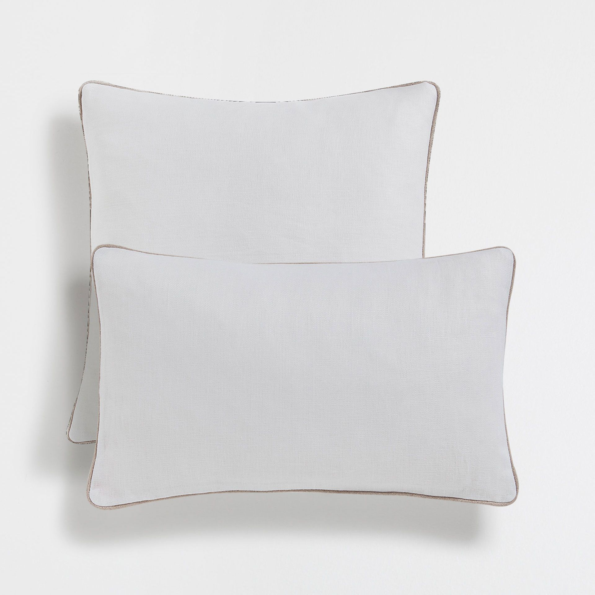 Linen Cushion Cover With Contrasting Edging Cushion Cover Cushions Zara Home