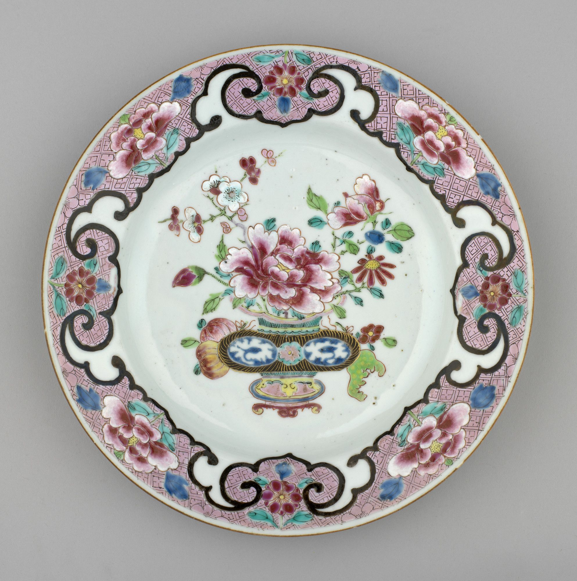 Jingdezhen Jiangxi Province China Set Of Plates Familia Rosa Porcelana Pintada Pratos Porcelana