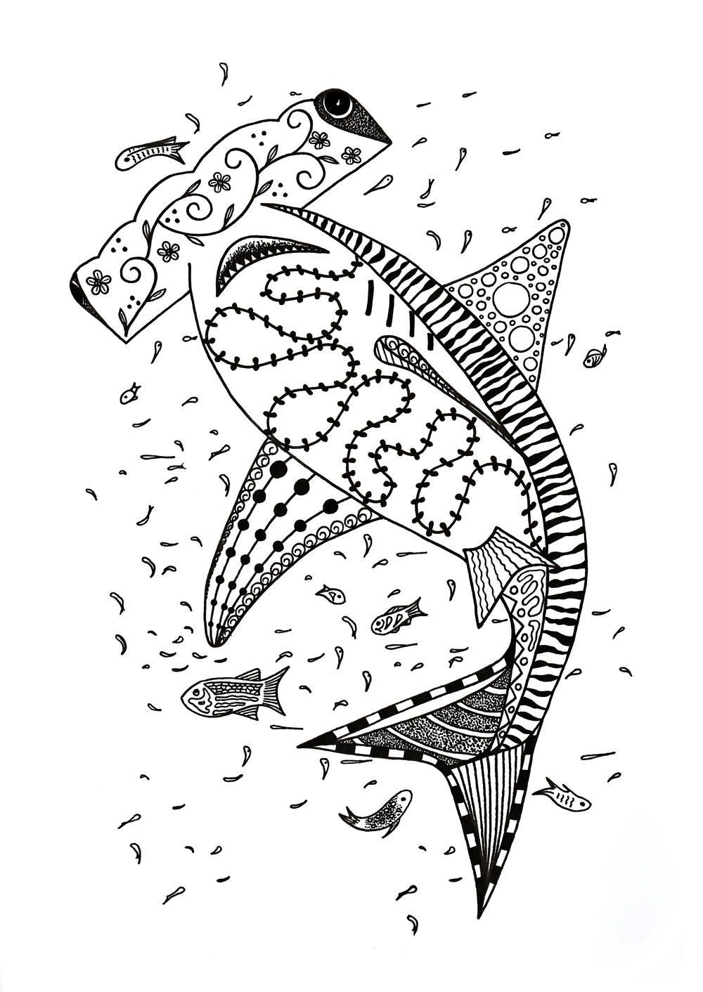 Hammerhead Shark Coloring Page Shark coloring pages
