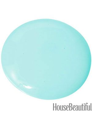 Aquamarine Color | Blue Paint   Benjamin Moore Blue Paint   House Beautiful