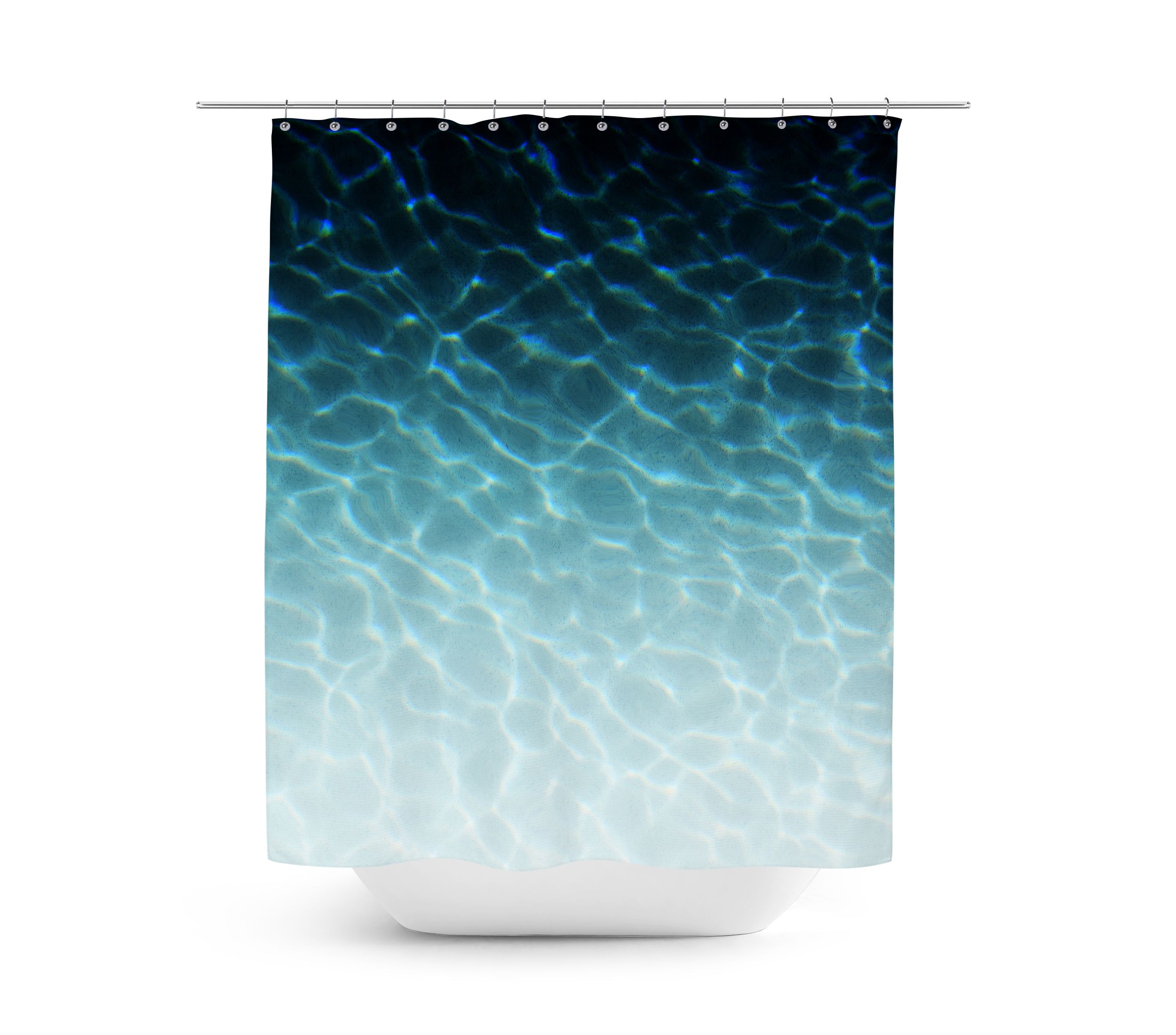 An Ombre Of Peacock Blue For Your Surf Style Bathroom Settings