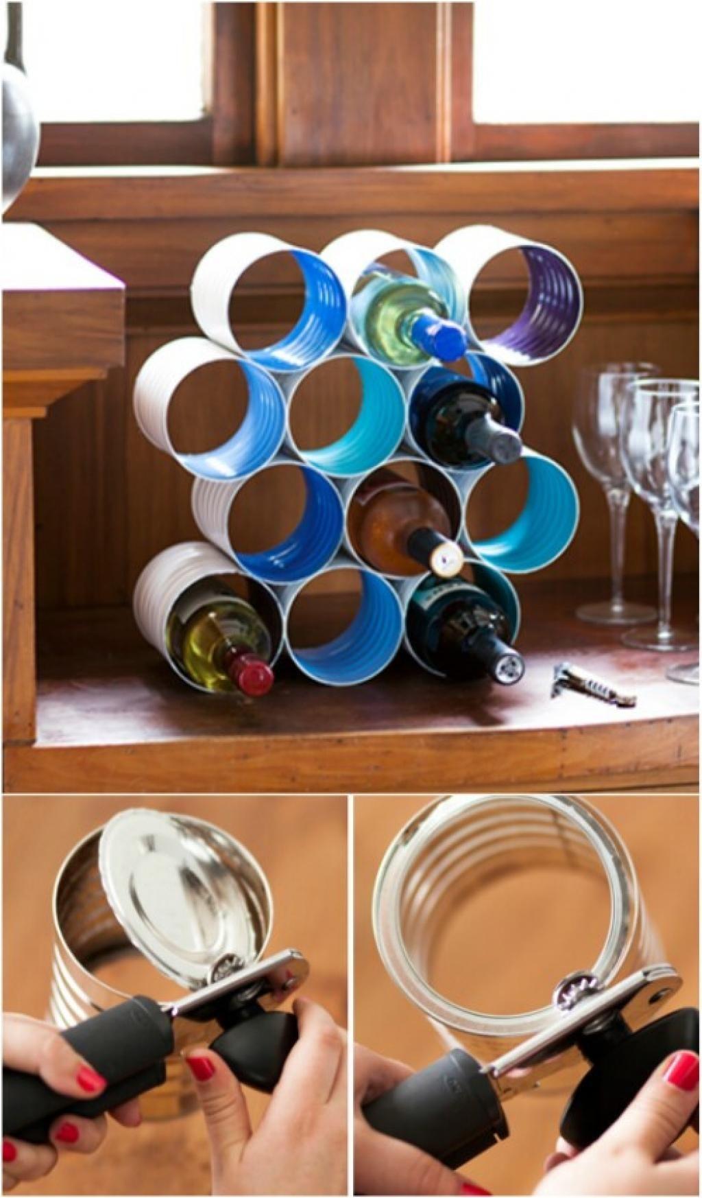 Voyez Tout Ce Que Vous Pouvez Faire En Recyclant Vos Conserves Le 3 Et Le 9 Sont Epatants Range Bouteille Casier A Bouteille Casier Range Bouteille