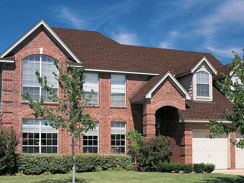Best Hickory Gaf Timberline Roof Shingles Home Red Brick 400 x 300