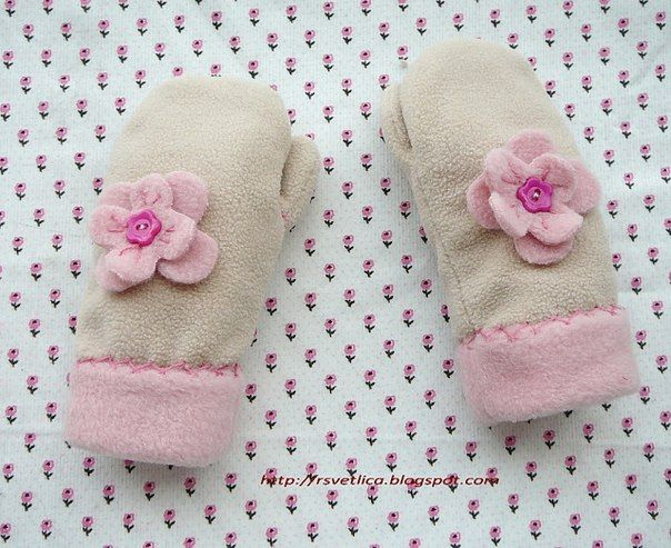 fleece mitten pattern | How to sew fleece mittens, fleece mittens ...