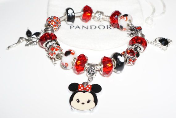 Tsum Tsum Minnie Disney charm Authentic Jared Pandora Bracelet