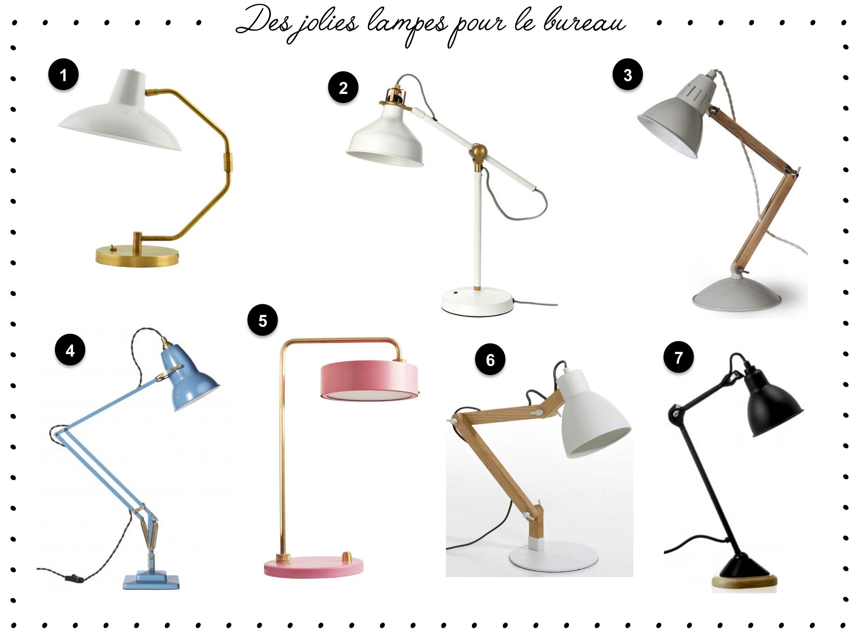 Ma sélection de jolies lampes pour le bureau ou de table sur le blog !