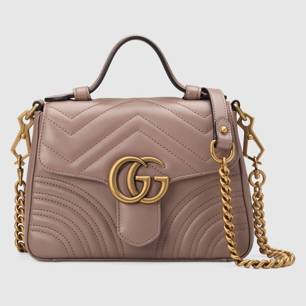 5c2dff06c73e2d Shop the GG Marmont mini top handle bag by Gucci. A new introduction to the GG  Marmont line for Cruise 2019, the mini GG Marmont top handle bag has a  softly ...