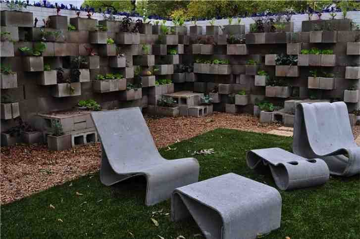 DIY Cinder Block Planters - Enduire Un Mur Exterieur En Parpaing