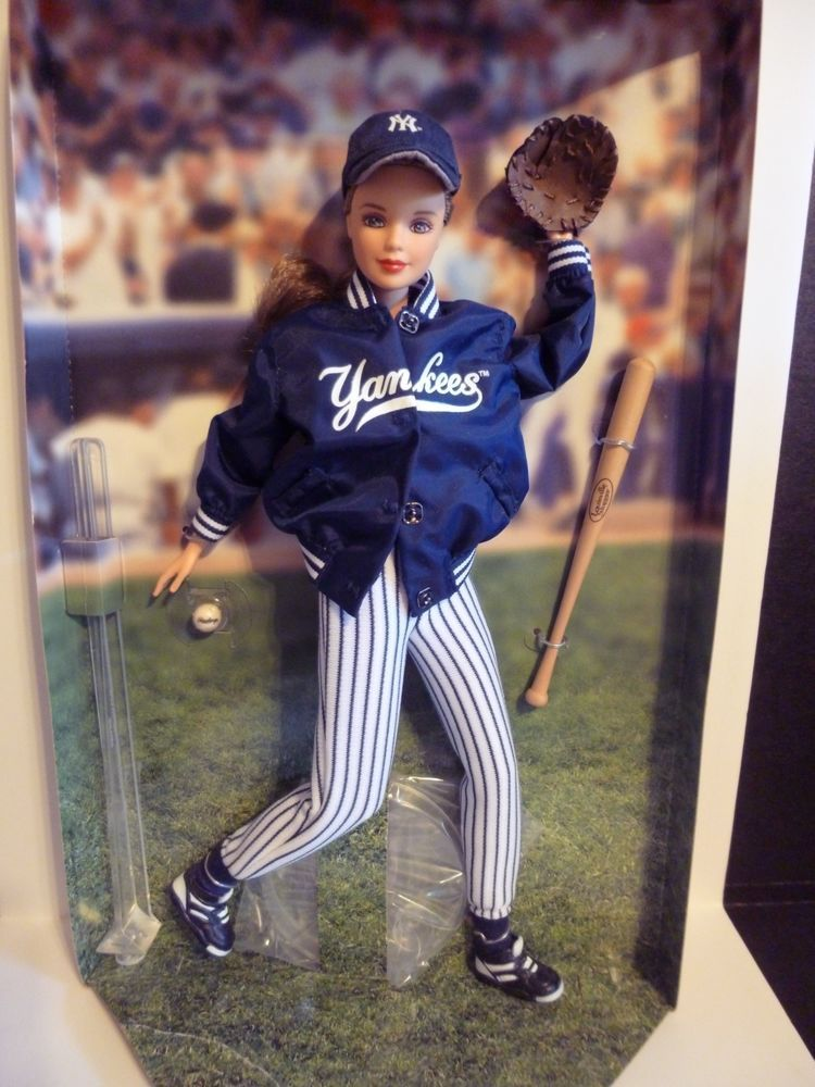New New York Yankees Barbie Doll Collectors Edition Certified Collector Dolls Barbie Dolls Barbie