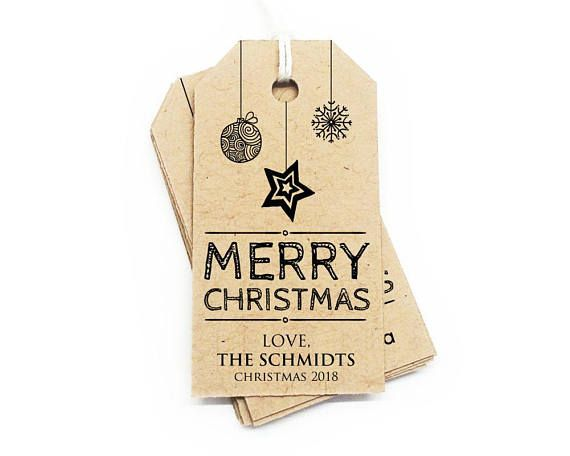Merry Christmas Favor Tags Christmas Tags Tag Template Favor Tag - christmas tag template