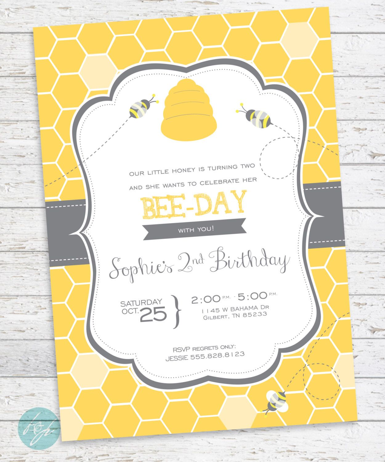 Bumble Bee Birthday Invitation, Bumble Bee Party, Bumble Bee, Summer ...