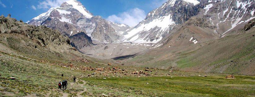 Aconcagua Guanacos Variation to the False Polish Route.  Aconcagua Full Traverse.  © 2012 Andes Mountain Guides