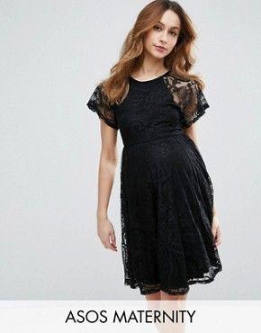 Black lace prom dress asos maternity