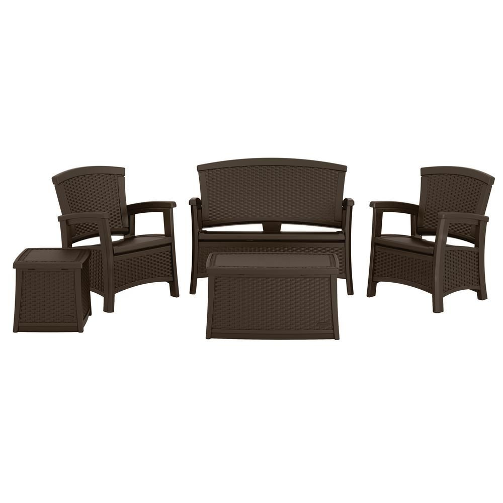 Suncast Elements 5-Piece Plastic Patio Conversation Set BMSET5500DT - The Home Depot