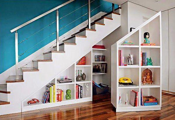 Muebles para almacenamiento debajo de las escaleras for Muebles de madera para debajo de la escalera