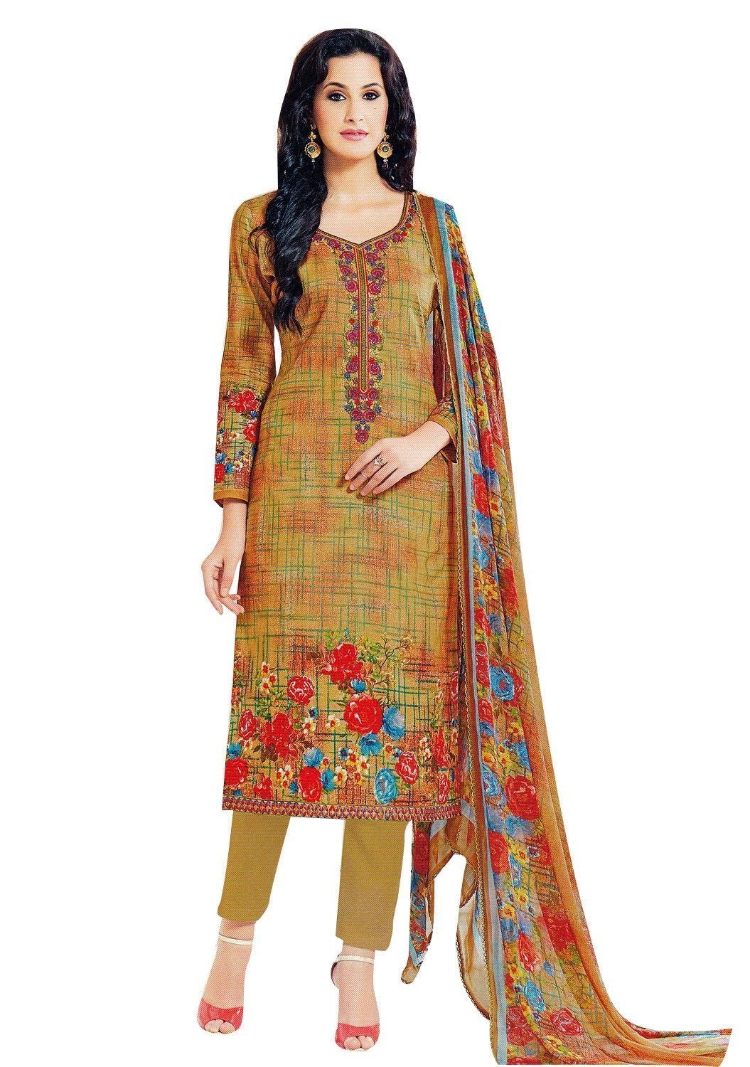 f0413b38e9 Readymade Cotton Embroidered Salwar Kameez Gorgeous Printed Indian Dress  Ready to wear Salwar Suit #SalwarSuit