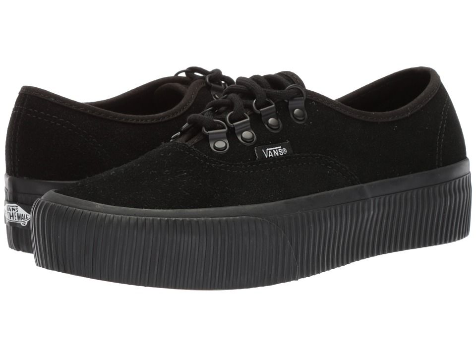 2efd9cccc9f Vans Authentic Platform 2.0 Skate Shoes (Embossed) Black Black ...