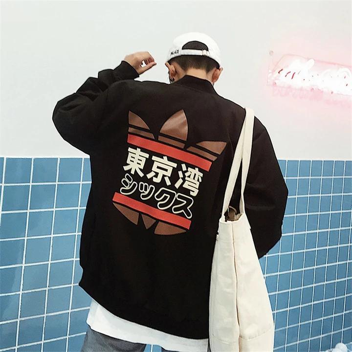 veste adidas ecriture japonaise