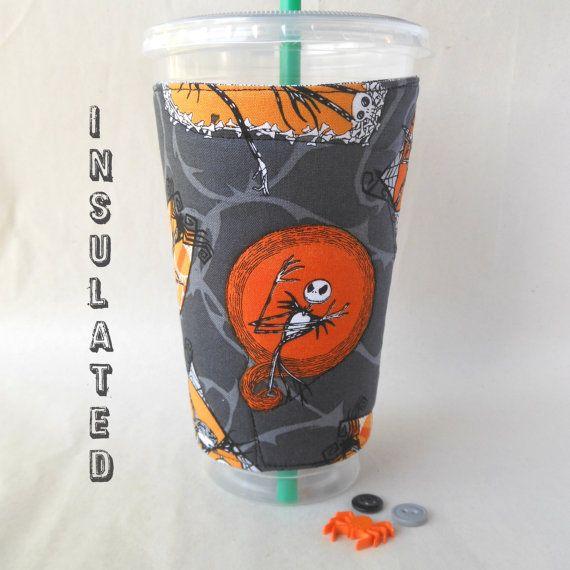 Jack Skellington Drink cozy Disney Nightmare von DeegeeMarieGifts